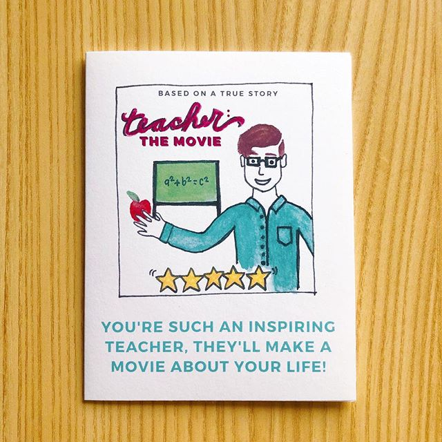 Who here believes teachers should be paid waaaay more for all their hard work and passion? Let the teachers in you life know how you feel with the card in our #teacherappreciaton365 variety card set of five! Available at escopaperco.com TOMORROW! 💸🙏🏼✨