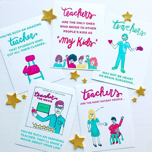 Yay! Our teacher appreciation card set, in collaboration with teacher extraordinaire @nicholasferroni - is available to purchase TODAY on escopaperco.com! Teachers deserve love all year round - go grab a pack now! (Link in bio) #teacherapprection365