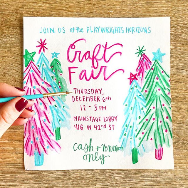 Come say hi in the theater district on Thursday! We'll have holiday cards + more! ✨