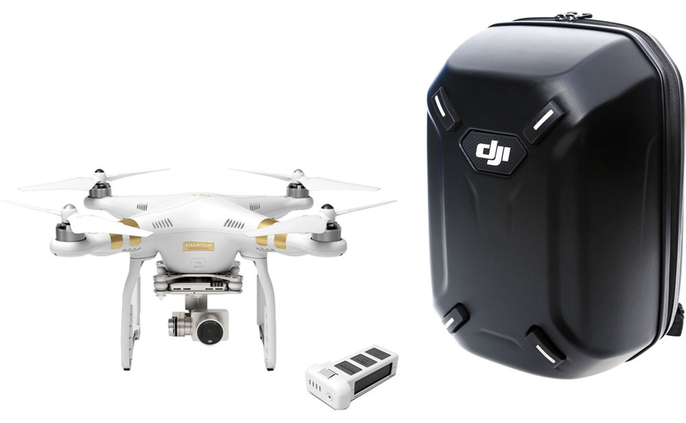 DJI Phantom 3 Professional with free battery and hardshell backpack