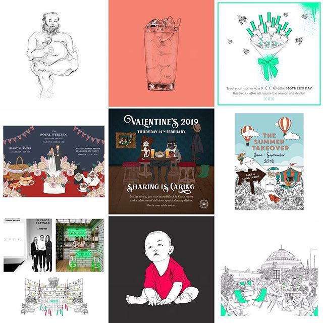 A few personal highlights from #2018 thanks so much to my clients and followers for all your support throughout! #happynewyear - bring on #2019 💪🏻 🥳 • • • • • #bestnine2018 #bestnine #illustration #design #graphicdesign #portfolio #xeco #brakspear #royalwedding #valentines #illustrator #lifedrawing #drawing #sketch #art #artist #artwork #london #hackney