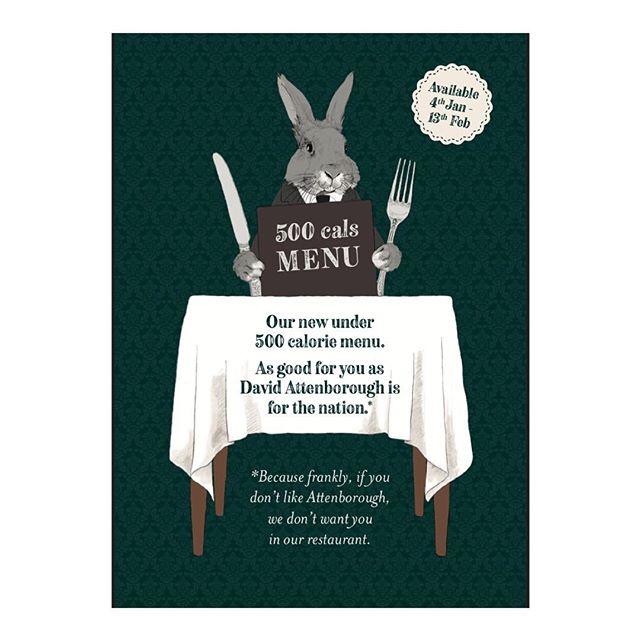 1/2 The front #veganuary healthy dining #illustration for @brakspearpubs • • • • •#illustrator #bunny #foodanddrink #drawing #draw #art #artist #artwork #portfolio #design #graphicdesign #davidattenborough #rabbit #restaurant #sketch
