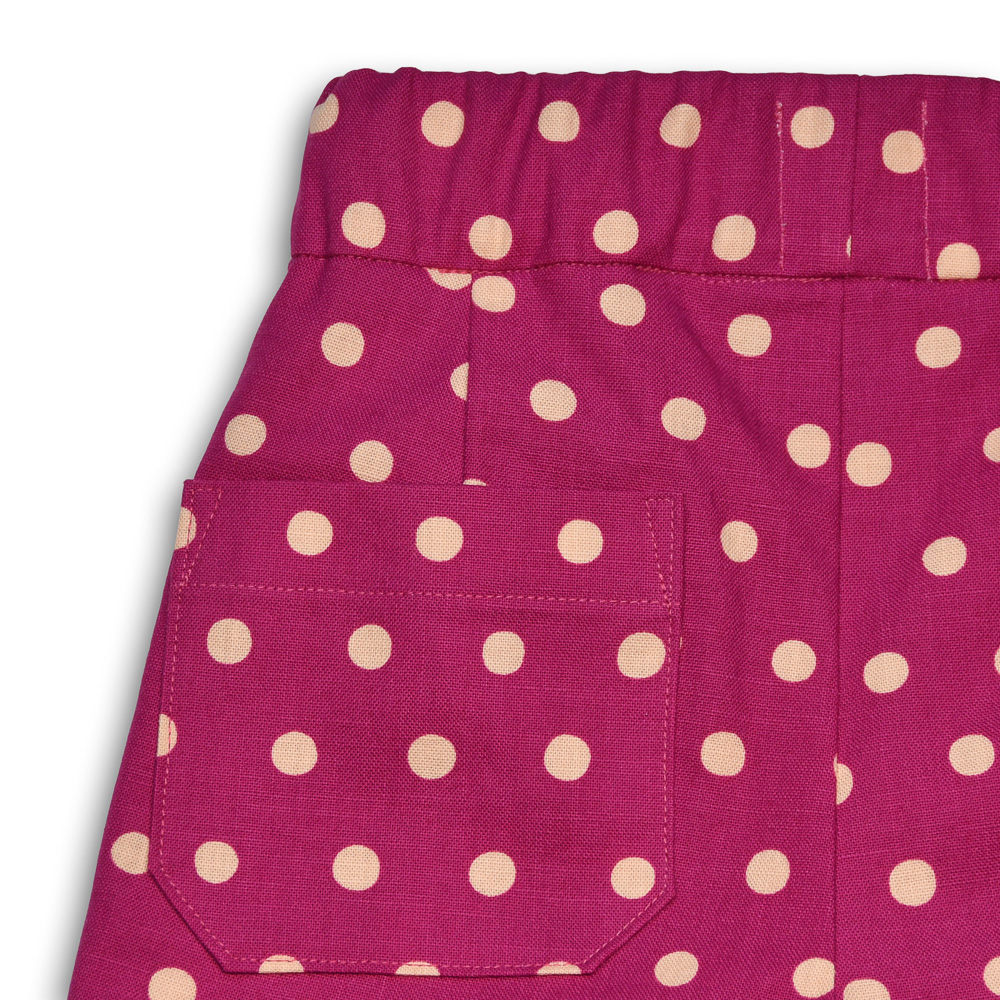 polka dot shorts back pocket detail gee betty