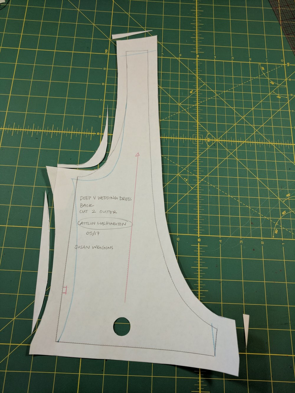 side seams and armscye adjustment