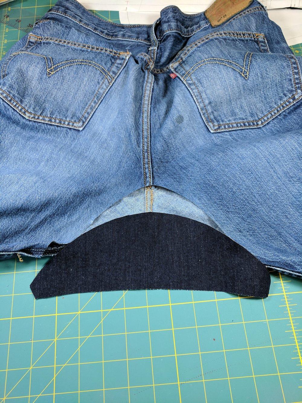 jeans gusset repair