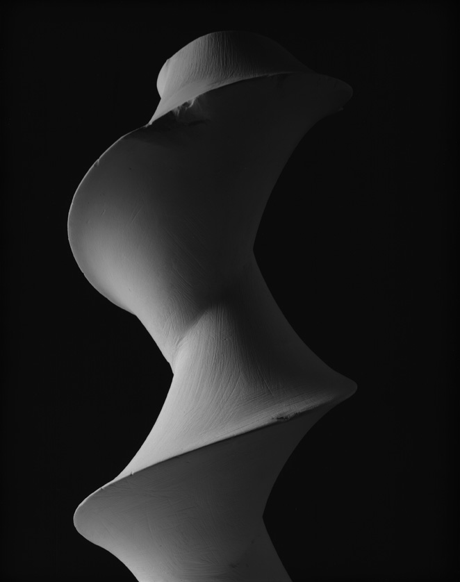 Dini's Surface:  a surface of constant negative curvature obtained by twisting a pseudosphere, 2004