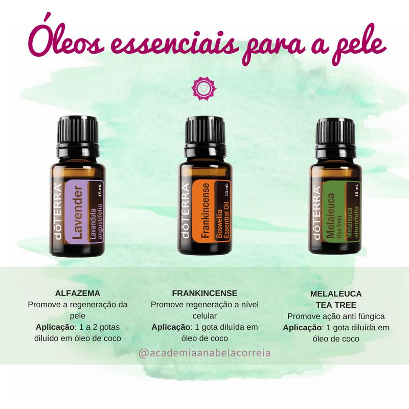 Óleos essenciais para usar na pele