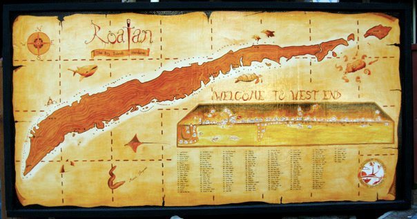 history of roatan, map
