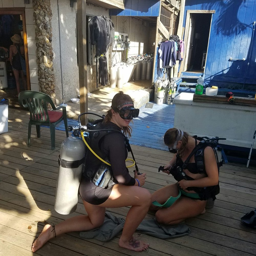 go scuba diving in west end roatan with coconut tree divers to learn your divemaster skills.