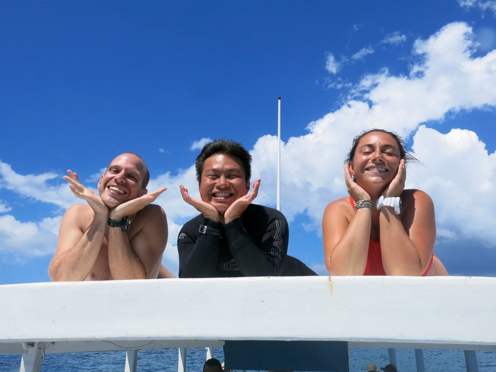 Diving makes us happy