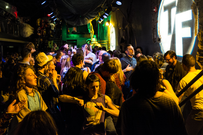 At the end of Day two, festgoers dance the night away at a club. Photo by Jarred Gastreich.