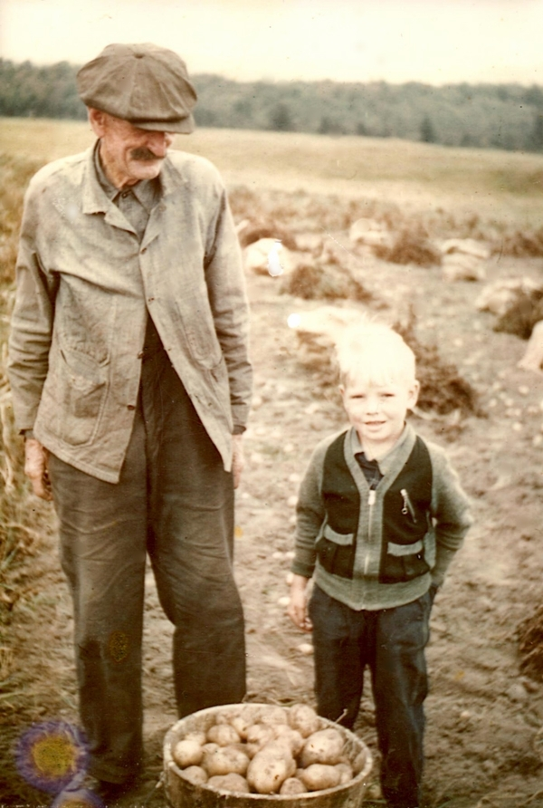 Neil's great-grandfather, James, with his grandson, Andy (Neil's father)