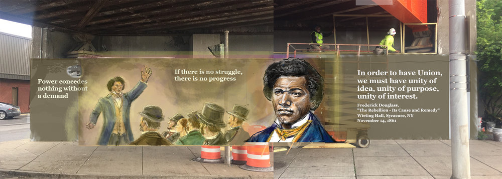 Frederick Douglass digital mock up