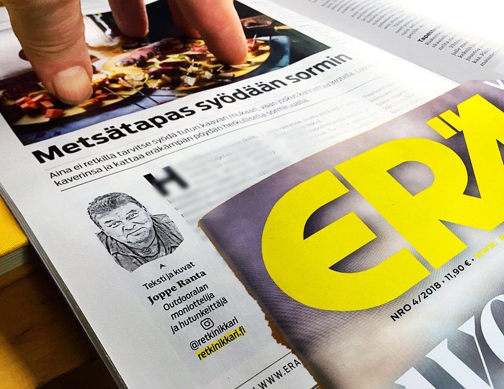Siinä se taas on, valmis ruoka-artikkeli perinteisestä lehdestä luettavissa.