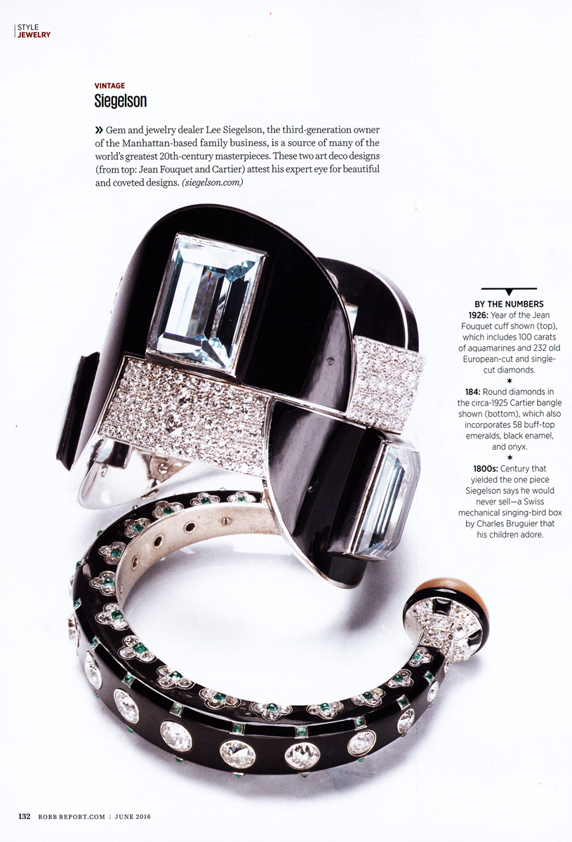 Featured pieces:Art Deco Aquamarine, Diamond, and Enamel Bracelet by Jean Fouquet for Maison Georges Fouquet, Paris, 1926;Art Deco Diamond, Natural Pearl, Emerald, and Onyx Bangle by Cartier, circa 1925