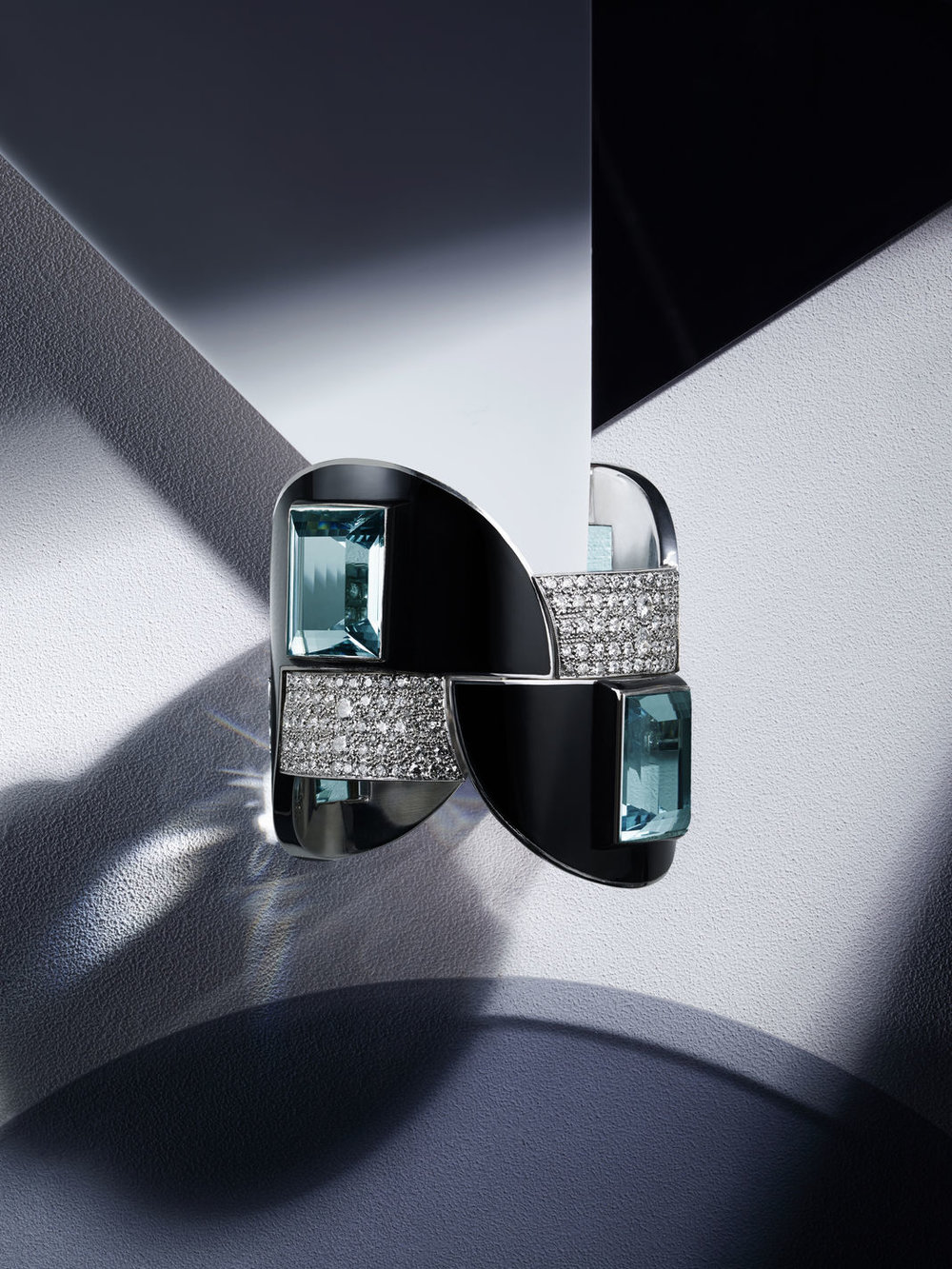 Featured piece:Art Deco Aquamarine, Diamond, and Enamel Bracelet by Jean Fouquet for Maison Georges Fouquet, Paris, 1926