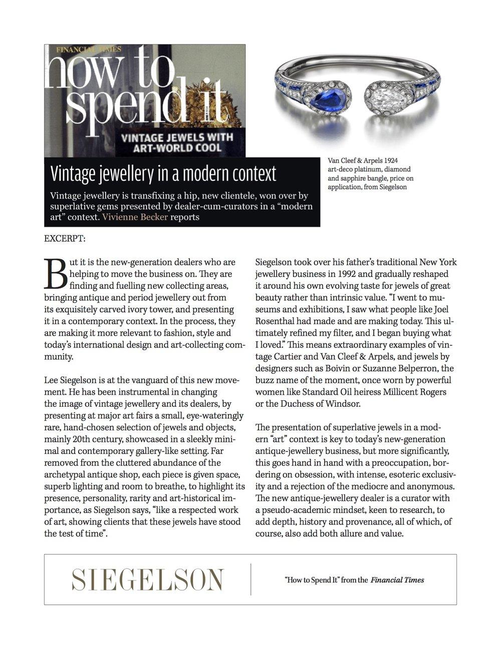 Featured piece:Art Deco Diamond and Sapphire Bangle Bracelet by Van Cleef & Arpels, Paris, 1924