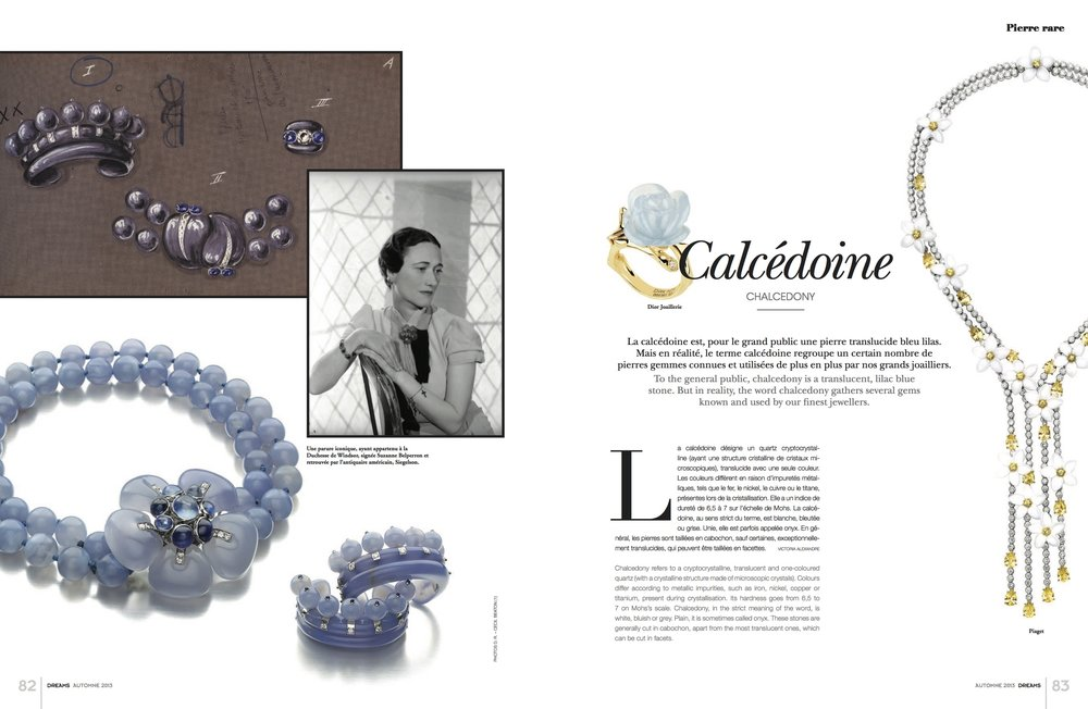 Featured piece: The Duchess of Windsor Suite: An Art Moderne Blue Chalcedony, Sapphire, and Diamond Suite of Jewelry by Suzanne Belperron, Paris, circa 1935