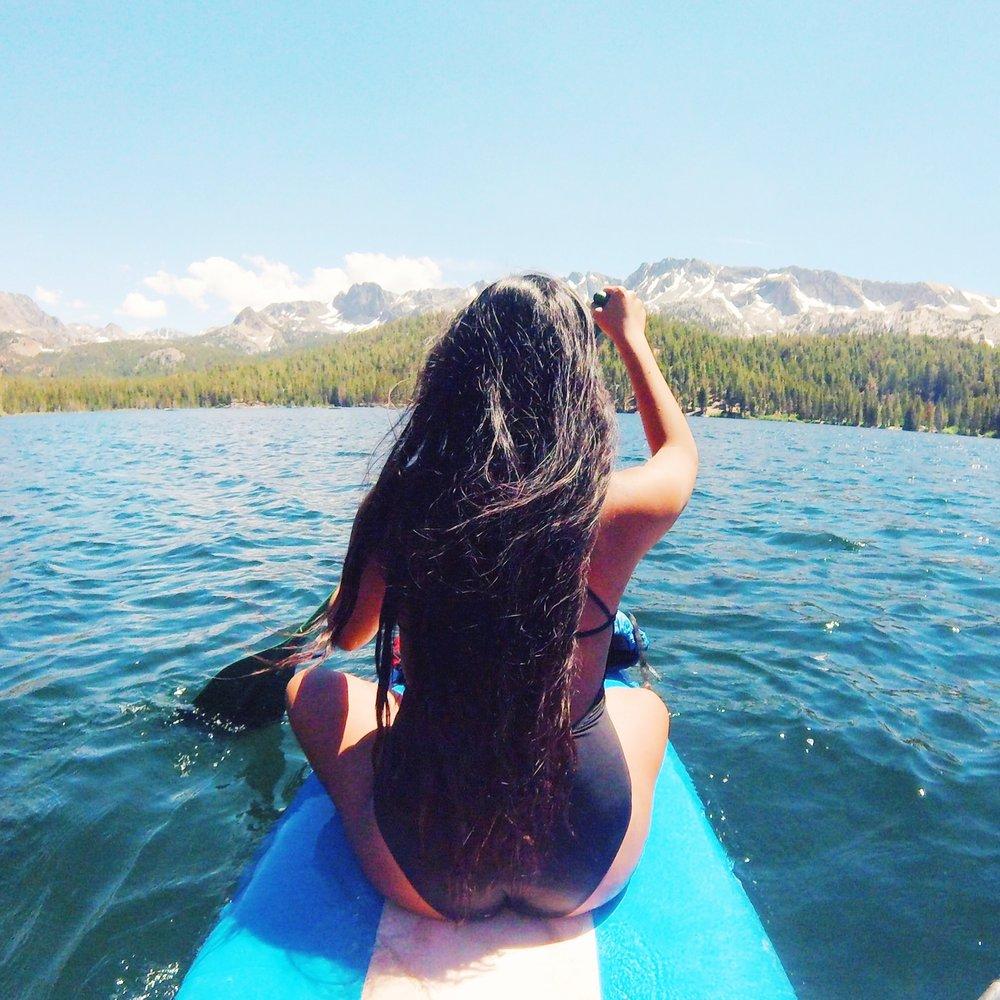Paddle boarding Lake Mary