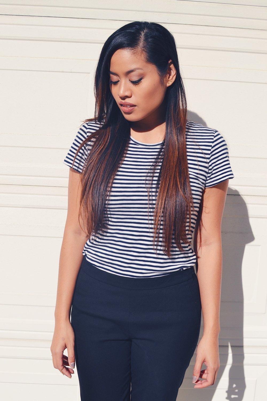 J.Crew Stripe Painter T-Shirt