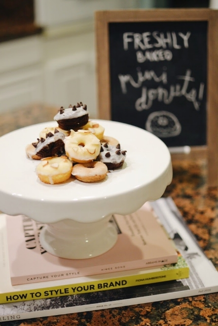 Easy baked mini donuts using cake mix