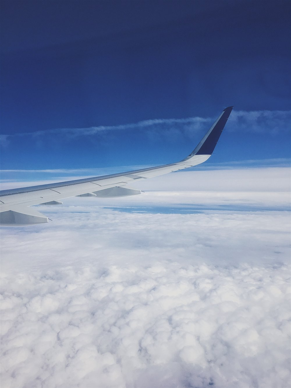 """Window view of the clouds. In the wise words of Agnes from Despicable Me, """"It's so fluffy I'm gonna DIE!"""""""