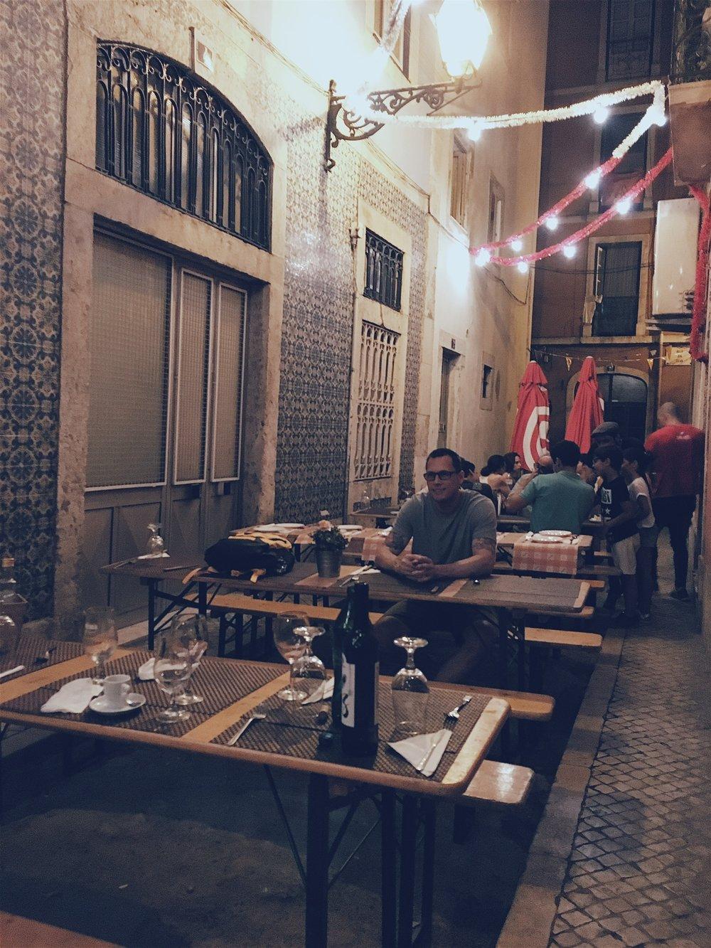 ...Like this quaint outdoor restaurant