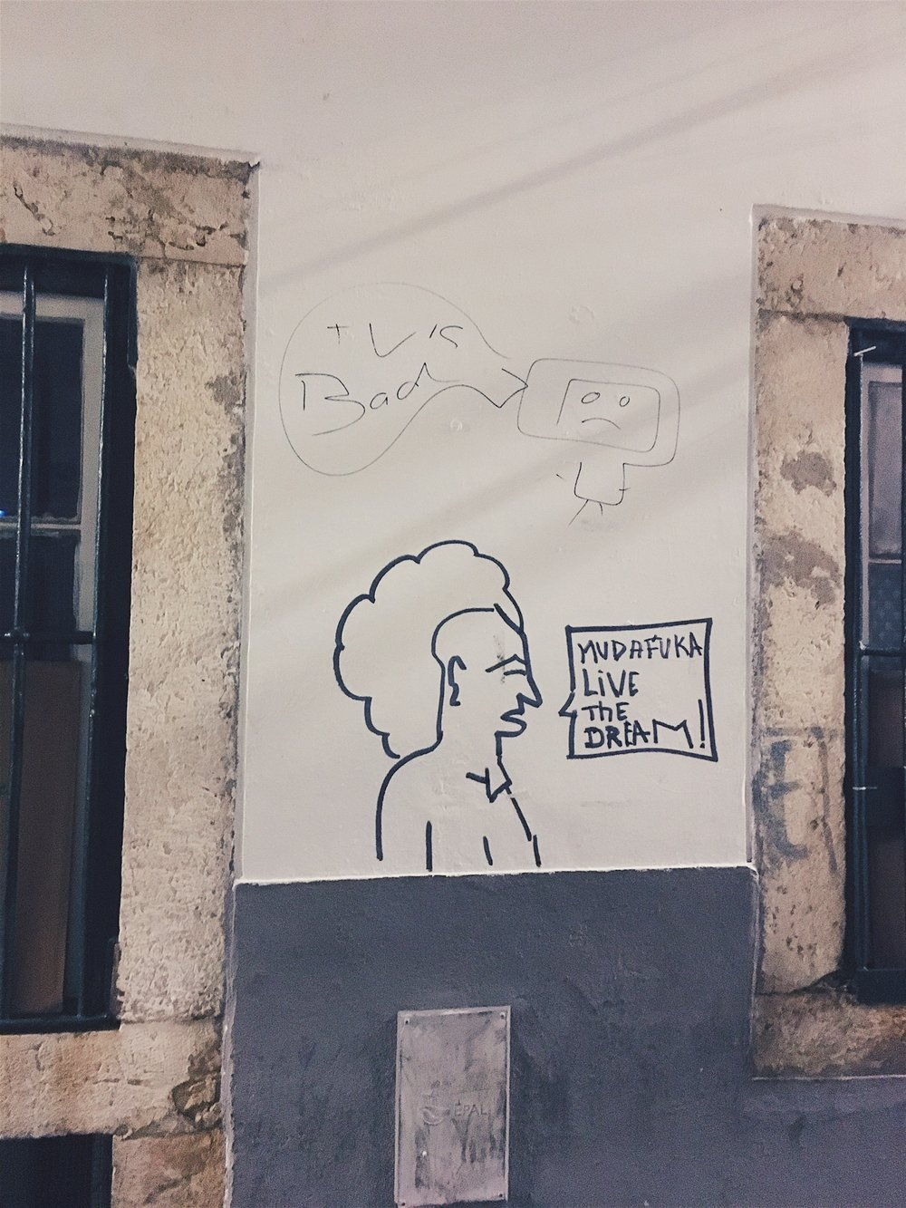 Sage advice from the streets: TV is bad; Live the DREAM!