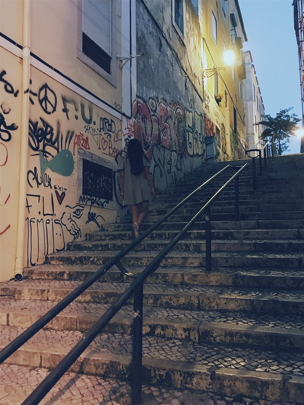 Wandering through alleyways