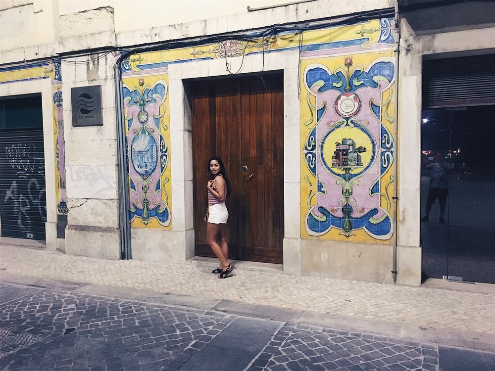 Colorful tile and neat doors can be found all over the city