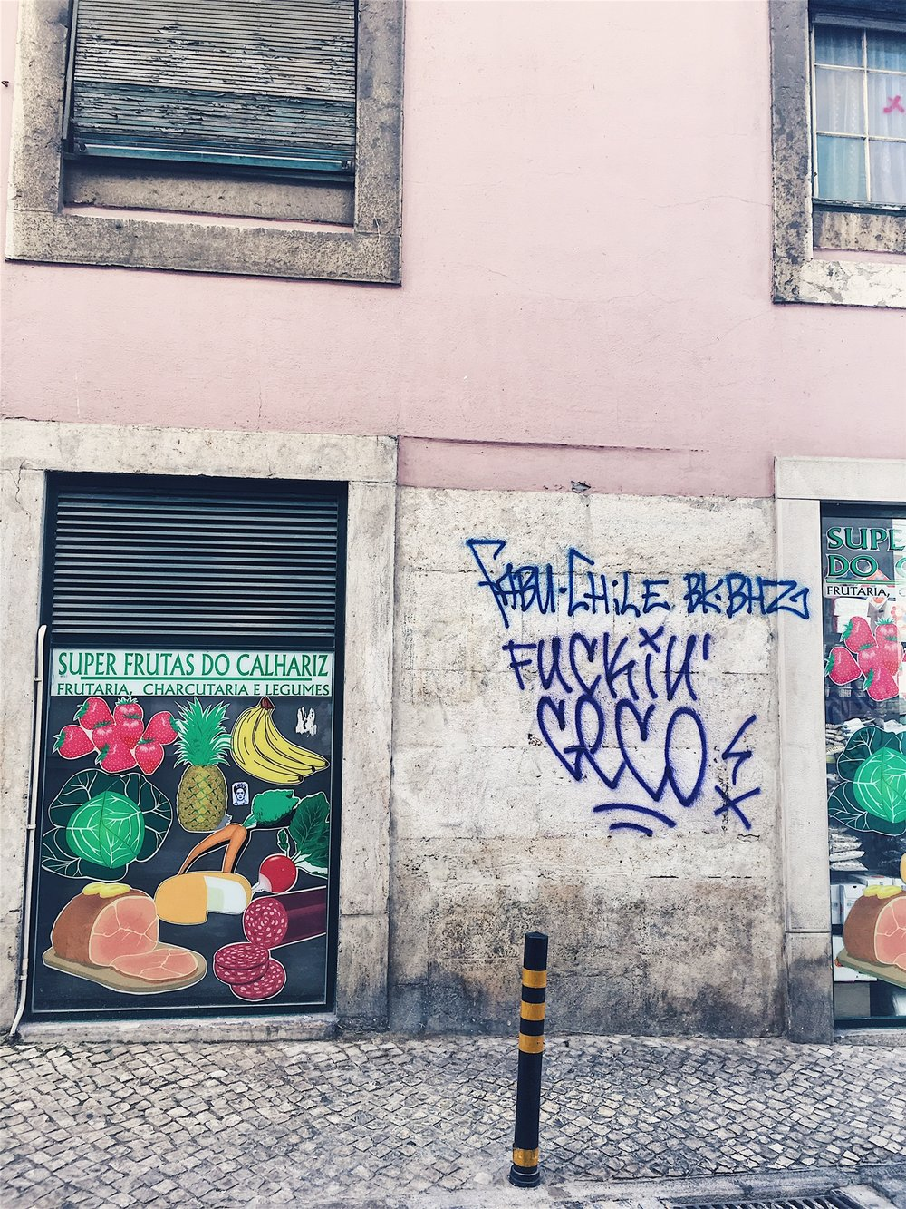 Colorful signs and graffiti