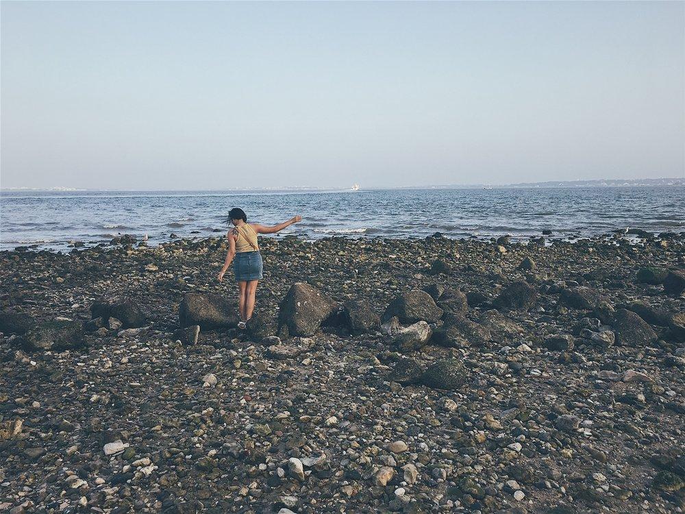 Picking my way through the rocks