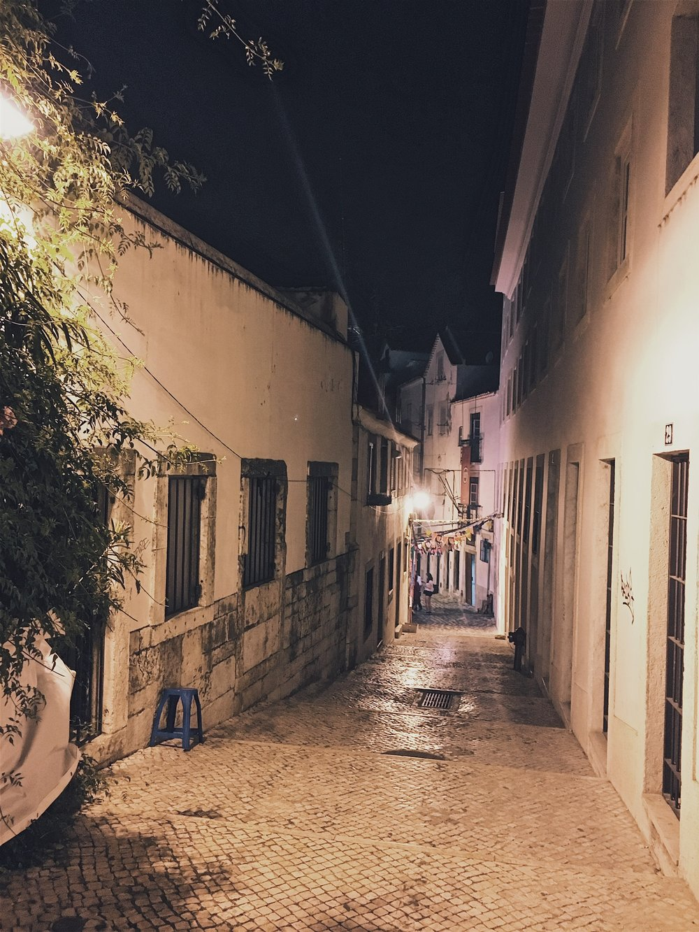 Wandering nighttime streets, stumbling upon lively gatherings along the way