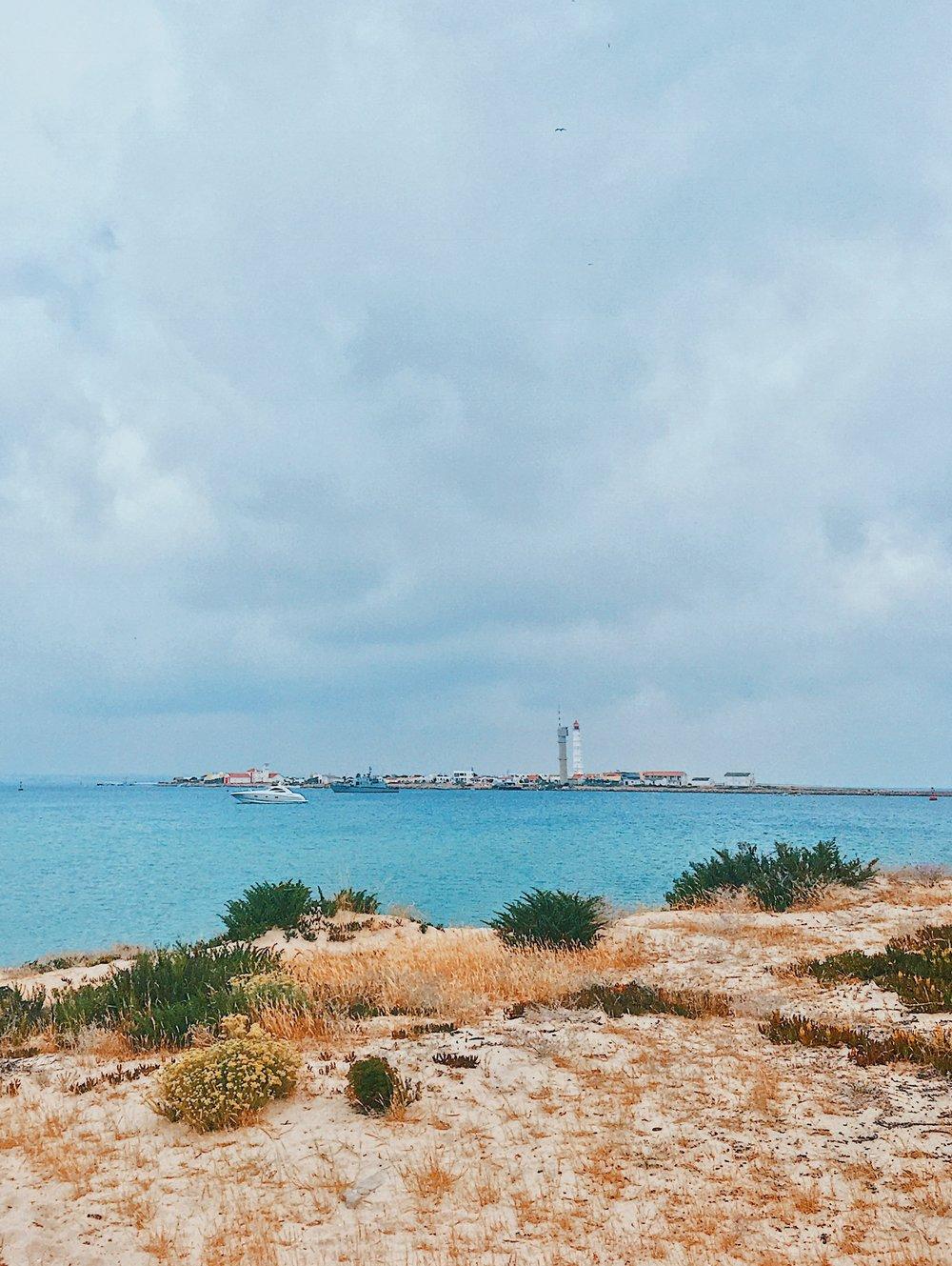 Ilha Deserta on an overcast day