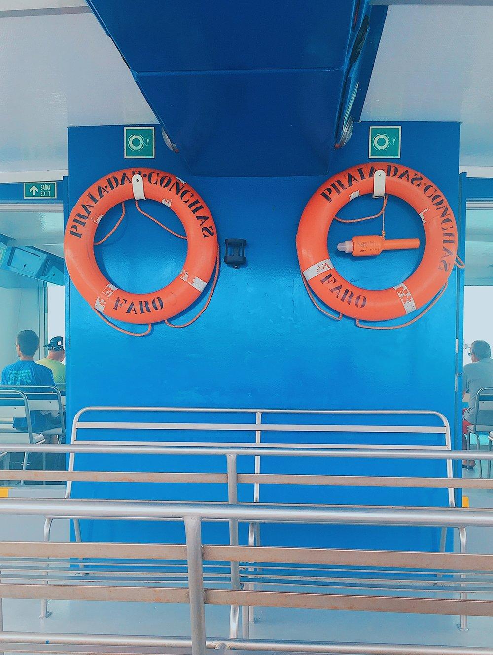 Aboard the ferry to Ilha Deserta