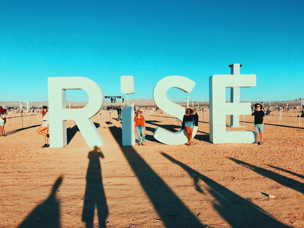 Rise Lantern Festival Sign