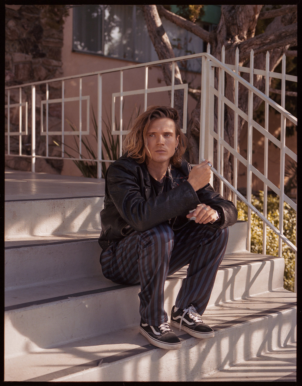 Dougie Poynter photographed in Los Angeles for Damaged Magazine