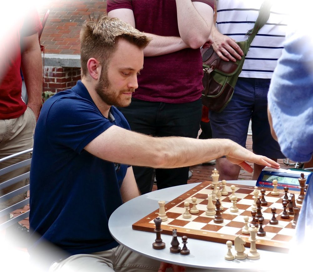 JB in Boston, photo courtesy of  Boylston Chess Club
