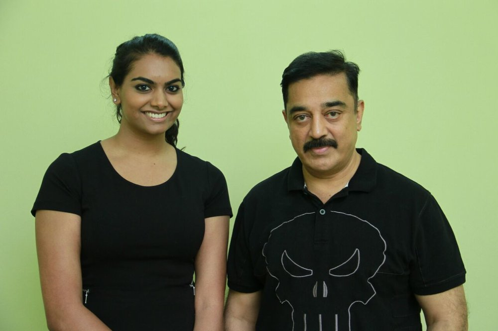 Dilani Rabindran, in a meeting with Padma Bhushan Kamal Haasan to discuss international co-productions between India & Canada
