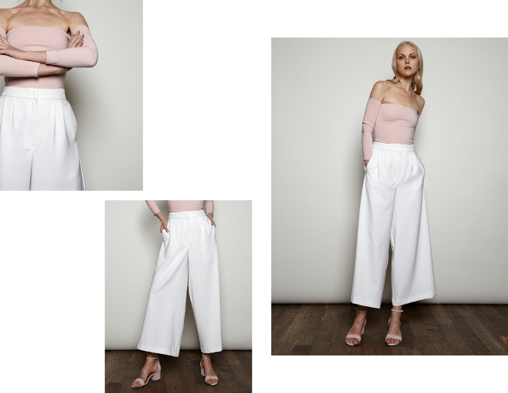 LIBSA Bodysuit and Pleated Pants