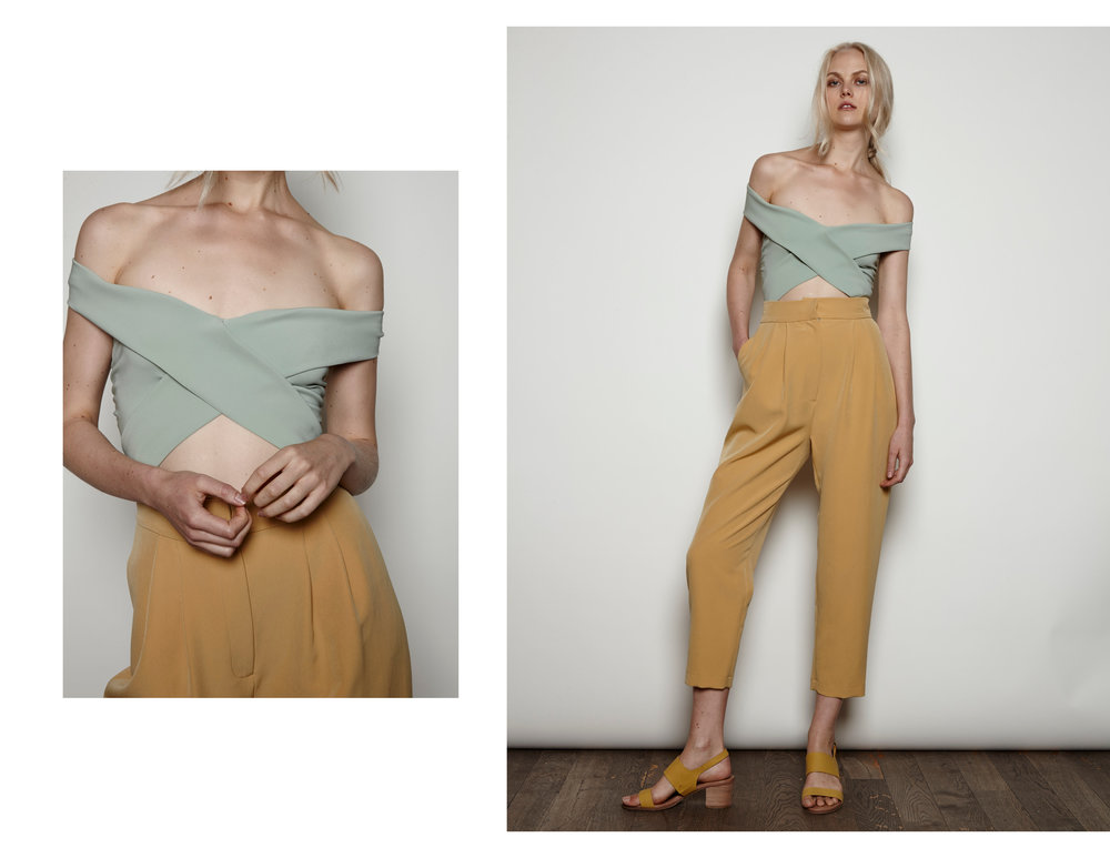 LIBSA Bodysuit and Cigarette Pants