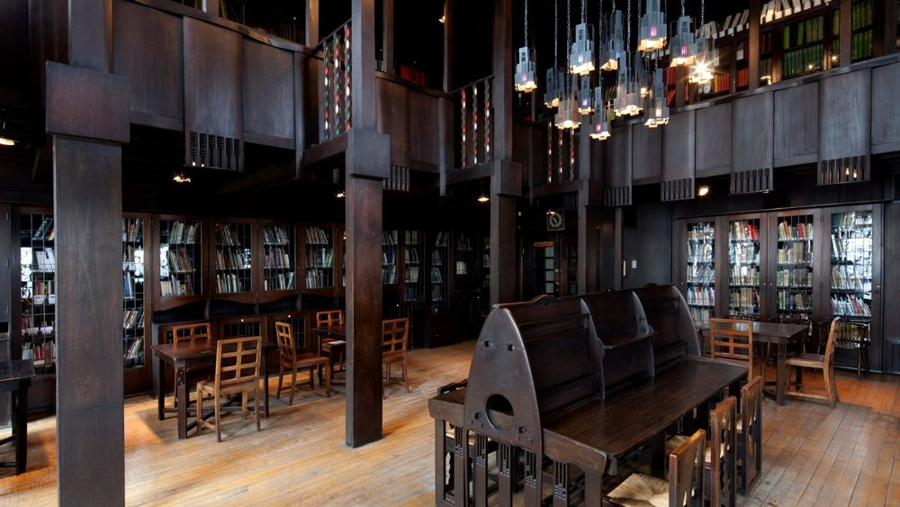 The Library at the Glasgow School of Art