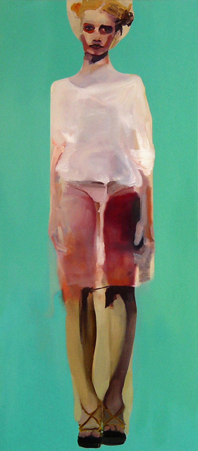 "Swimmer , 2006, oil on canvas, 72""x 32"""