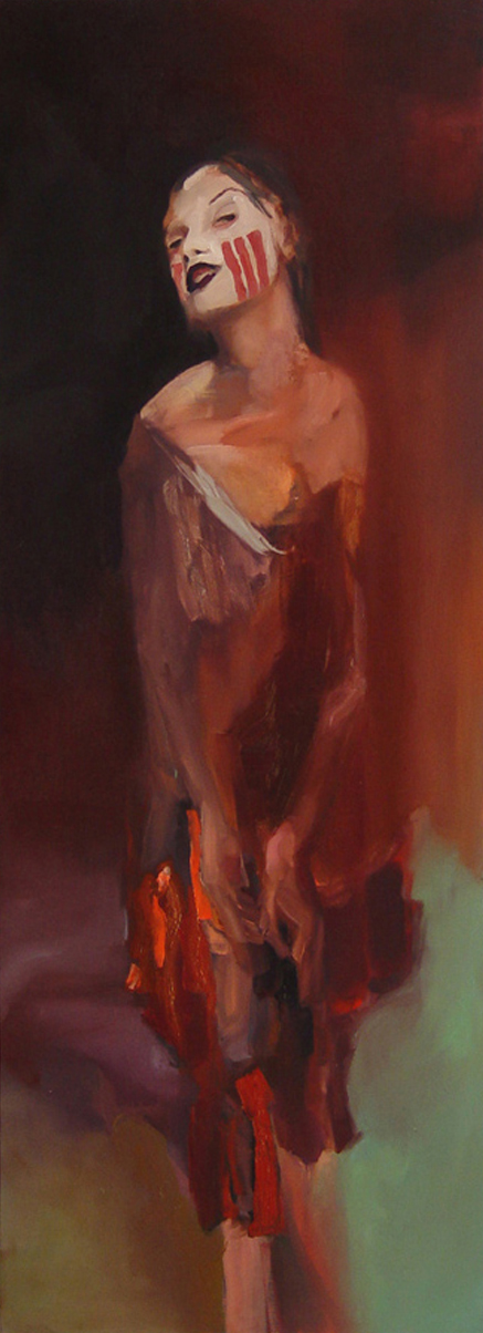 "untitled, 2005, oil on canvas, 79""x 29"""