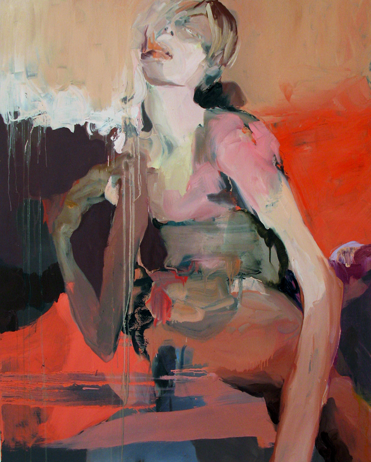 "Oh Chloe XOXO , 2010, oil on panel, 50""x 40"""