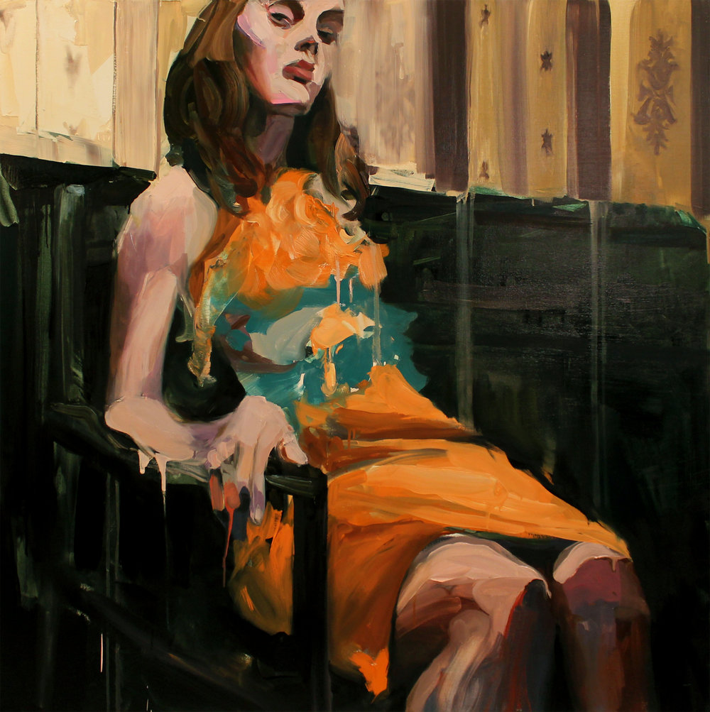 "Picker  , 2016, oil on canvas, 48""x 48"""