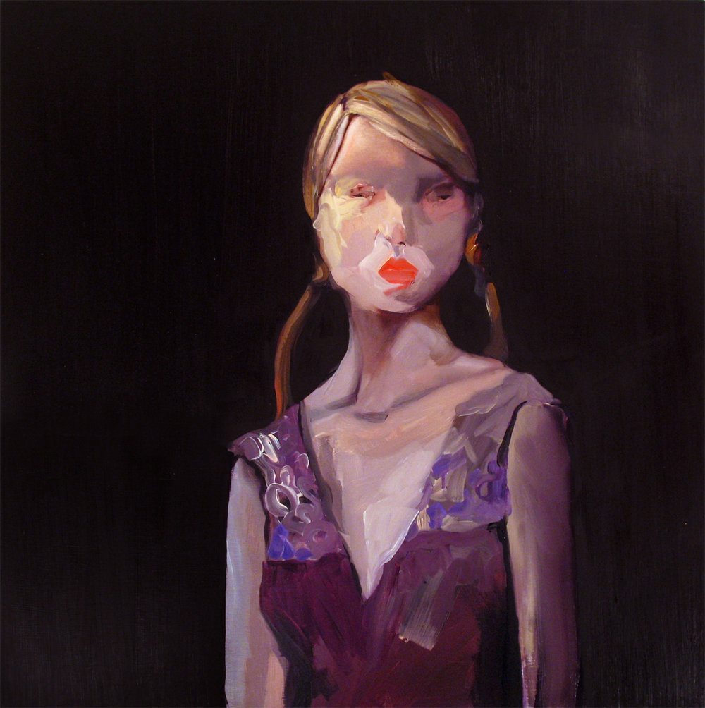 "Prada Queen , 2010, oil on canvas, 38""x 38"""
