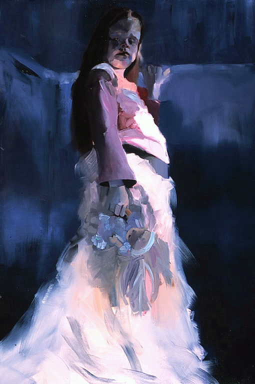 "Queenie , 2003, oil on canvas, 72""x 48"""