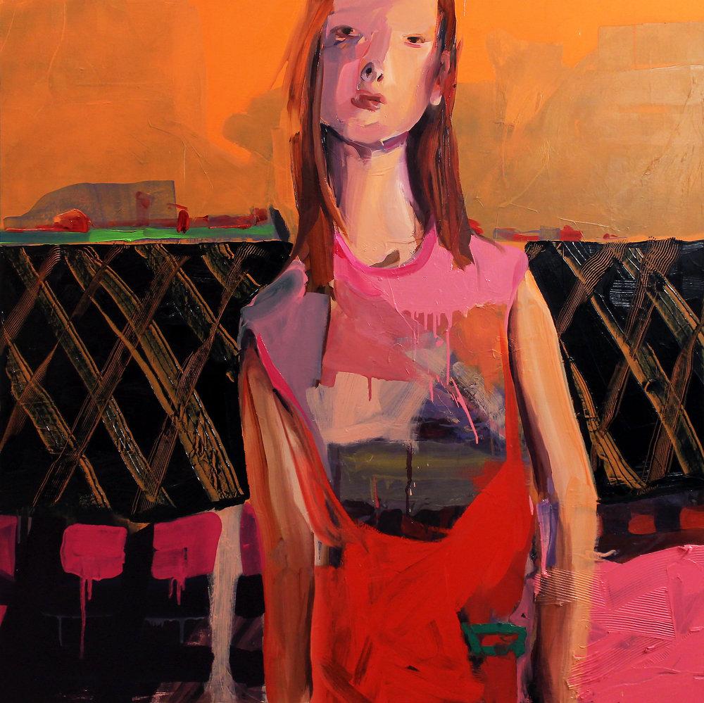 "Crux , 2017, oil on canvas, 44""x 44"""