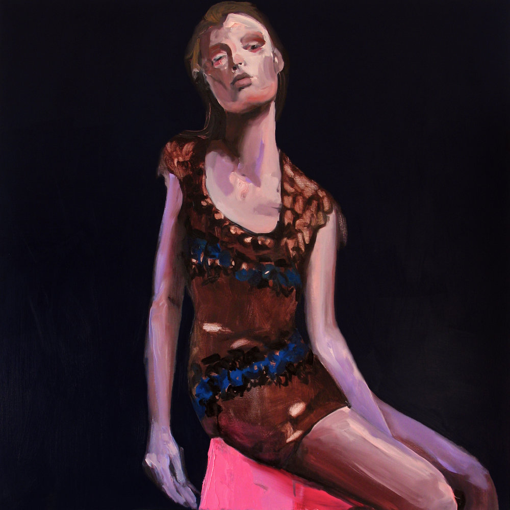 "Shit Brown Perch , 2011, oil on canvas, 50""x 50"""